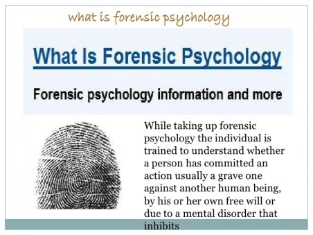 What is forensic psychology