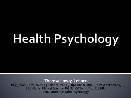Health Psychology Related