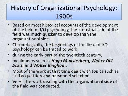 History of Organizational