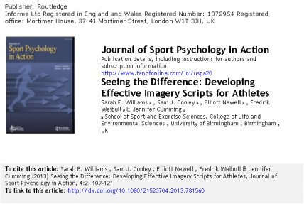 Journal of Sport Psychology in