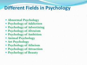 Different Fields in