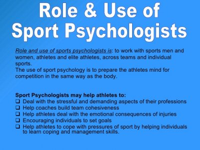 Role and use of sports