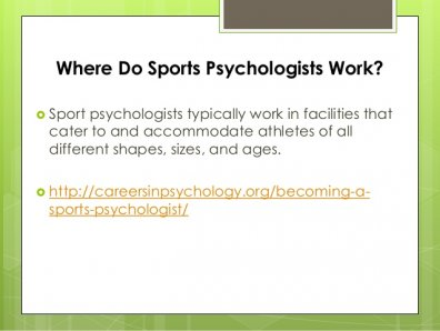 Where Do Sports Psychologists