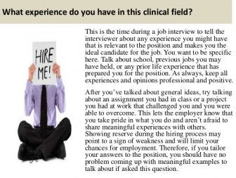What experience do you have in