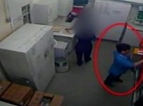 CCTV of nurse Victorino Chua accessing the medicine cabinet at Stepping Hill hospital