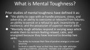 Athlete Mental toughness