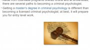 Becoming a Criminal Psychologist