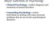 Clinical Psychology Studies
