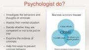 What is a Criminal Psychologist?