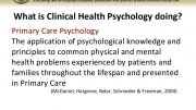 What is Clinical Health Psychology?