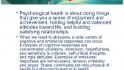 What is Psychological Health?