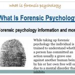 Forensic Psychology Definition