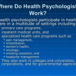Health Psychology Careers