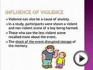 As Psychology - Influence of Anxiety on Eyewitness Testimony