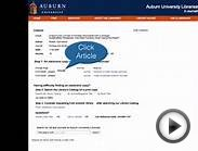 Aubie Asks @ The Libraries - Finding Full Text Articles