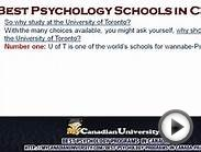 Best Psychology Schools in Canada - Part 1
