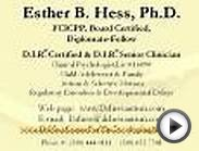 Esther B. Hess, Ph.D. FCICPP, Board Certified, Diplomate
