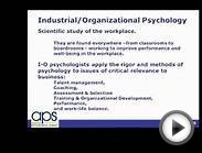 Industrial-Organization Psychology (I/O): Cross-Cultural