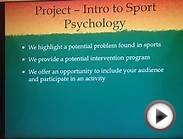 Intro to Sport and Exercise Psychology - project 2