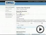 Journal Online Submission System (JOSS) Step 1: Uploading