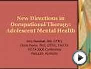 New Directions in Occupational Therapy: Adolescent Mental