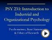 PSY 231: Introduction to Industrial and Organizational