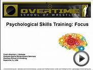 Psychological Skills Training: Focus