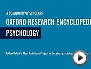 Psychology: Oxford Research Encyclopedias