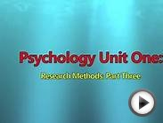 Research Methods AS: Part 3 | Psychology