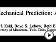 Statistical Prediction Rules (SPRs) vs. Clinical experts