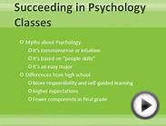 Succeeding in Psychology Classes