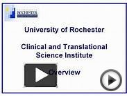 University of Rochester Clinical and Translational Science