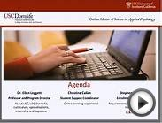 USC Online MS in Applied Psychology Virtual Open House