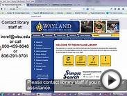 WBU LRC Search For Peer Reviewed Journal articles