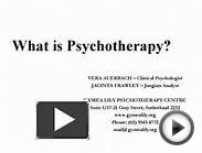 What is Psychotherapy? VERA AUERBACH Clinical Psychologist
